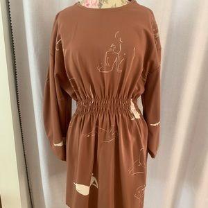 Zara mauve sweatshirt dress - female figures